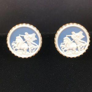 Vintage chariot cameo cufflinks